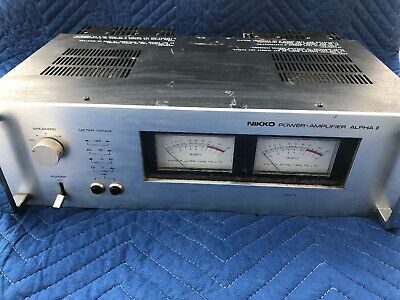 NIKKO ALPHA II power amp amplifier / silver face edition