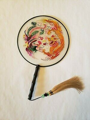 Chinese Double-sided Su Silk Embroidery Hand Fans
