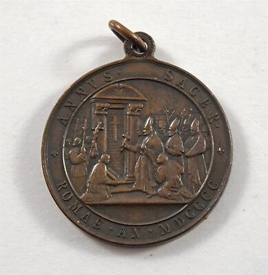 Antique Old Vatican City Pope Leone XIII 1900 Commemorative Medal