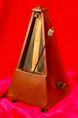 Rare Antique FRENCH WOOD METRONOME