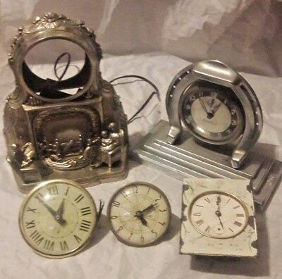 Vintage Antique Clock Lot for parts or other. Lanshire is on 2 of them & unbrand