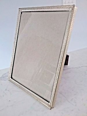 Vintage Picture Frame Mid Century Gold Tone W/White Inlay 8X10 Pressed Corners