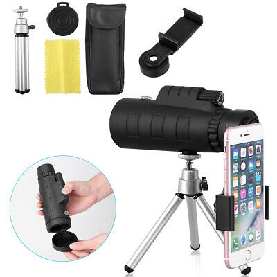 Monocular 50X60 Zoom Optical HD Lens Telescope + Tripod + Clip For iPhone Huawei