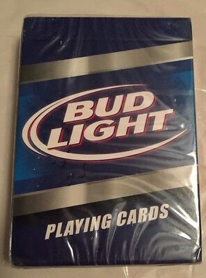 BUD LIGHT BEER PLAYING CARDS by ANHEUSER BUSCH NEW SEALED FREE SHIP