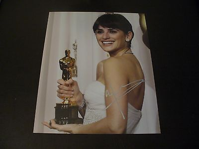 Penelope Cruz Extremely Rare In Person Hand Signed Oscar 8x10 Photo With COA #1