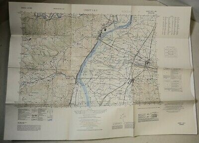 FRANCE 1:25,000 CREST 1&2 Army Map Service AMS M864 1953 2nd Ed Topographic Vtg