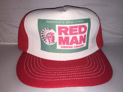 8e1a8f9e981 Vtg Red Man Chewing Tobacco Snapback hat cap rare 80s MADE IN USA redman  indian