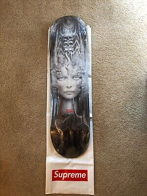 "ad6f04a8 SUPREME H.R. GIGER Skateboard Deck ""Li II"" 2014, Wrapped With Retail Bag"