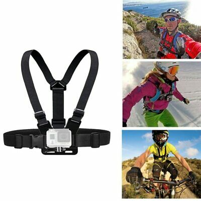 Chest Strap for GoPro HD Hero 1 2 3 4 Mount Flexible Outdoor Black Adjustable