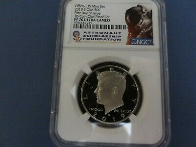 2019 S Kennedy Half Dollar NGC PF70 Ultra Cameo First Day Issue ASF LABEL./