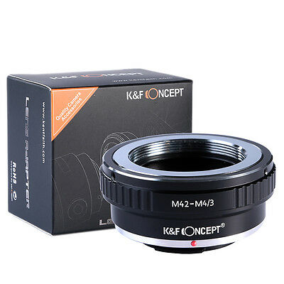 K&F Concept Lens Adapter Ring for M42 Lens to Micro 4/3 Four Thirds Mount Camera