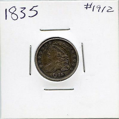 1835 10C Capped Bust Silver Dime. Circulated. Lot #1605