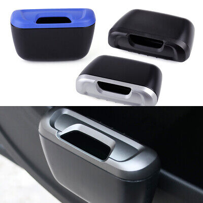 Car Multi-function Door Slot Interior Garbage Trash Rubbish Case Can Storage Box