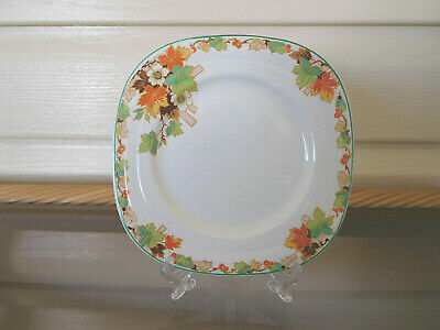 """Grindley Creampetal """"Autumn Leaves"""" Square Side Plate England 1940s"""