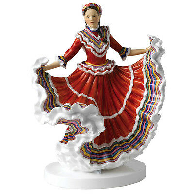 Royal Doulton Dances of the World Mexican Hat Dance Figurine HN 5643 Signed