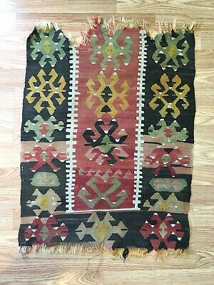 Authentic Vintage Woven  Moroccan Rug Carpet Stars Snakes Islamic Symbolism