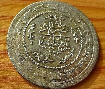 WOW Authentic Ottoman Silver Coin 3 Kurush 1223/29 AH Mahmud II 1809-1839 AD.