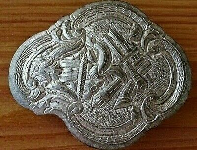 Authentic Ottoman Renaissance Silver Handmade Belt Buckle 17th-19th AD / 64,22gr