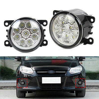 New 2x 9LED Round DRL Daytime Running Driving Lights for Ford Focus Acura Honda