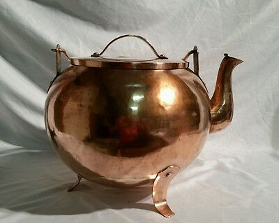 Antique ~Large~  Arts & Crafts Copper Kettle  42 Cup *Marked*