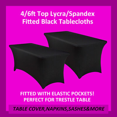 Tablecloths Square Spandex Lycra Table Cloth 4/6Ft Wedding Party Trestle Cover