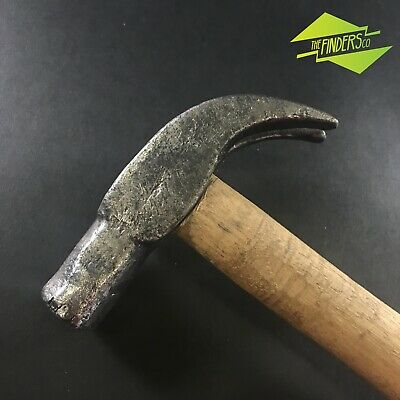 Fantastic Early Antique Hand Forged Carpenters Claw Hammer Old Vintage Tool