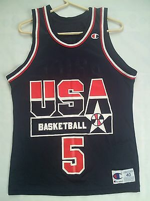 529e214e75ef Rare Vintage Champion Usa Basketball National Team  5 Mark Price Jersey  Size 40
