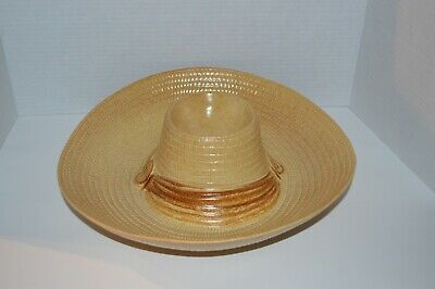 2 Ceramic Chips And Dip Sombrero Mexican Hat Servers Handmade