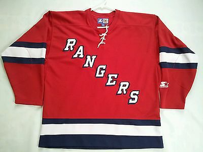 cbd12ad813c Vintage Rare Starter New York Rangers Hockey Jersey In Size L