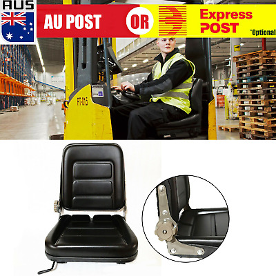 Forklift Seat Chair Multi Adjustable Leather Bobcat Tractor Excavator Machinery!