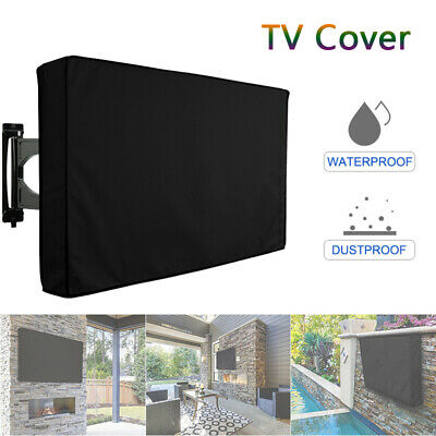 Outdoor TV Cover Waterproof Television Protector Remote Control Pocket LED B7A2