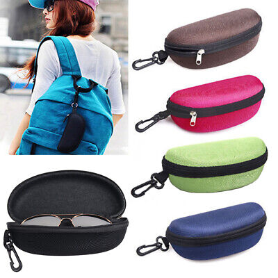 New Zipper EVA Eyeglasses Sunglasses Clamshell Hard Case Protector Box Newest
