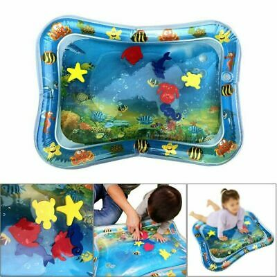 Inflatable Water Mat For Baby Infant Toddlers Mattress Splash Playmat Tummy UK