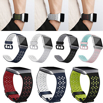 Silicone Rubber Sport Wristband Strap Band Bracelet for Fitbit Ionic Smart Watch