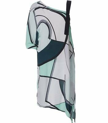 Ladies New With Tags Studio.w By David Jones Multi Coloured Tunic Top