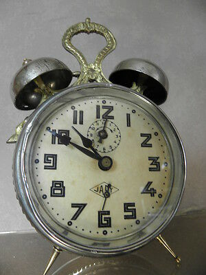 antique old alarm clock japy vintage antique Deco century uhr