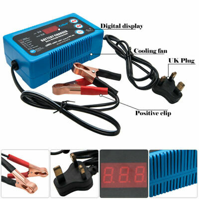 6V-12V 6A 2A 4Step Automotive Car Bike Smart Intelligent Battery Charger Trainer