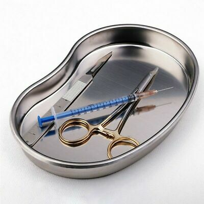 Dental Medical Instrument Kidney Form Stainless Steel Tray Bowl Dish 18*11*2mm