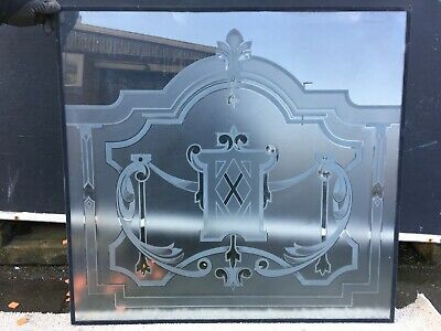 Unique Ornate Acid Etched Laminated Glass 910 H X 970 W  West Yorks