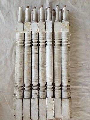 22 Vintage Wood Spindle Porch Balusters - Architectural Salvage