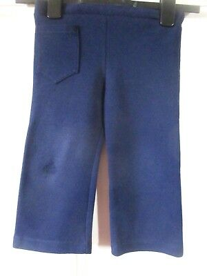 Vintage Dalebrook  pull on  boys  navy jersey  trousers ~ age 3