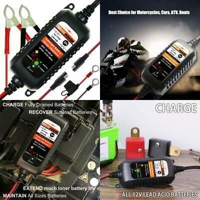 Battery Charger Maintainer 12V Amp Volt Trickle RV Car Truck Motorcycle fast