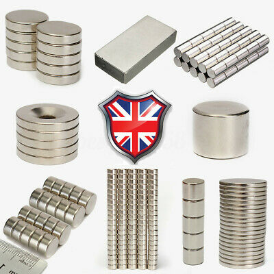Strong Block Square Round Disc Magnets Craft Rare Earth Neodymium N52 Magnet UK