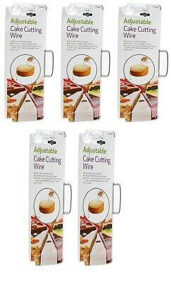 5 x Cake Cutter Bread Wire Slicer Cutting Leveller Decorating Tool Sugarcraft