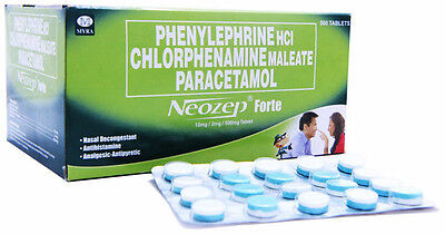 Neozep Forte Tablets Drowsy/Non- Drowsy Cold Medication Decongestant Allergy