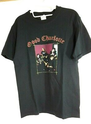 49ab14a475f Vtg GOOD CHARLOTTE CONCERT T SHIRT Noise To World 2004 Tour Cities 00s SMALL