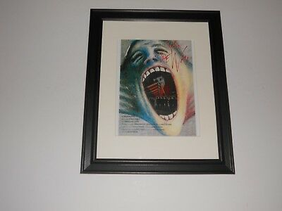 "Framed Pink Floyd The Wall 1982 Alan Parker Film Poster 14""x17"" Gerald Scarfe"