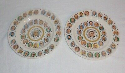 """Vintage """"Presidents Of The United States"""" Portrait Collectors Plate Nixon, Ford"""