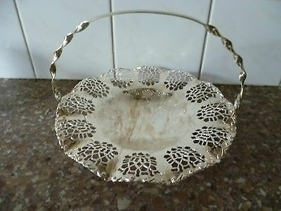 A Scalloped Edge, Fretted, Silver Plated Bon Bon Dish, Silver Plated Nut Bowl