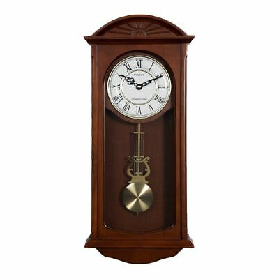 Rhythm Long Case Wooden Pendulum Wall Clock